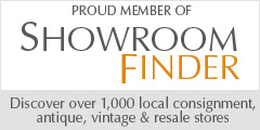 ShowroomFinder.com member. Discover local consignment, antique, vintage and resale stores.