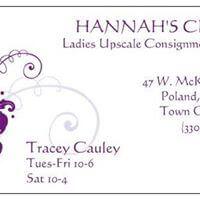 Hannah's Closet Womens Consignment shop