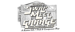 Bingo's Swap Meet Garage logo
