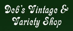 Debs Vintage and Variety Shop Vintage logo