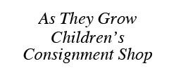 As They Grow Children's Consignment Shop Childrens Consignment shop