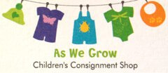 As We Grow Children's Consignment Shop Childrens Consignment shop