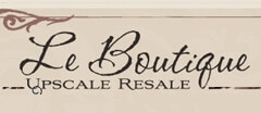 Le Boutique Upscale Resale Womens Consignment logo