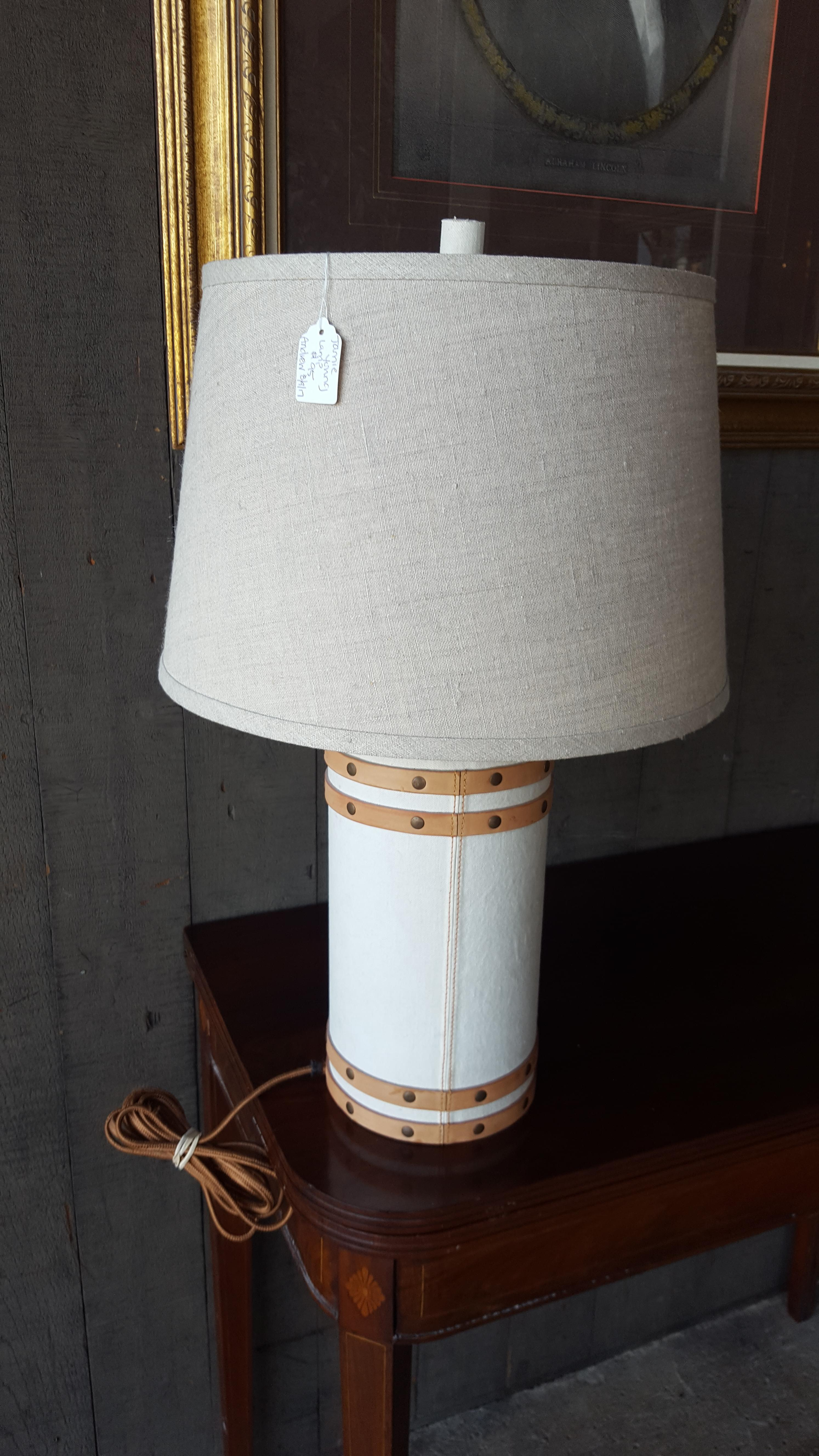 Beautiful upholstered table lamp, by Lighting, Lamps Price: $95.00