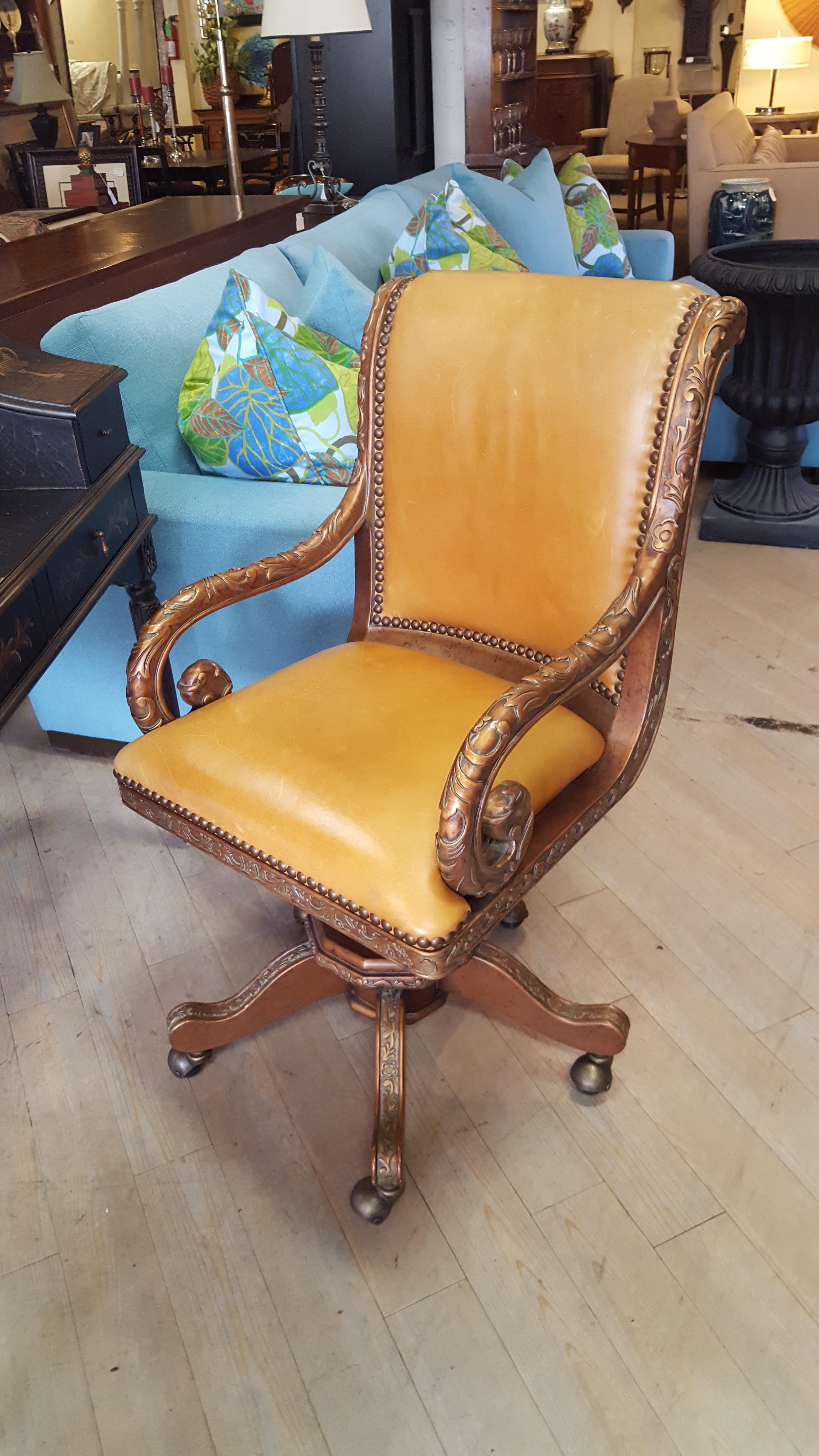 Hooker leather office chair on Chairs, Benches, Stools Price: $625.00