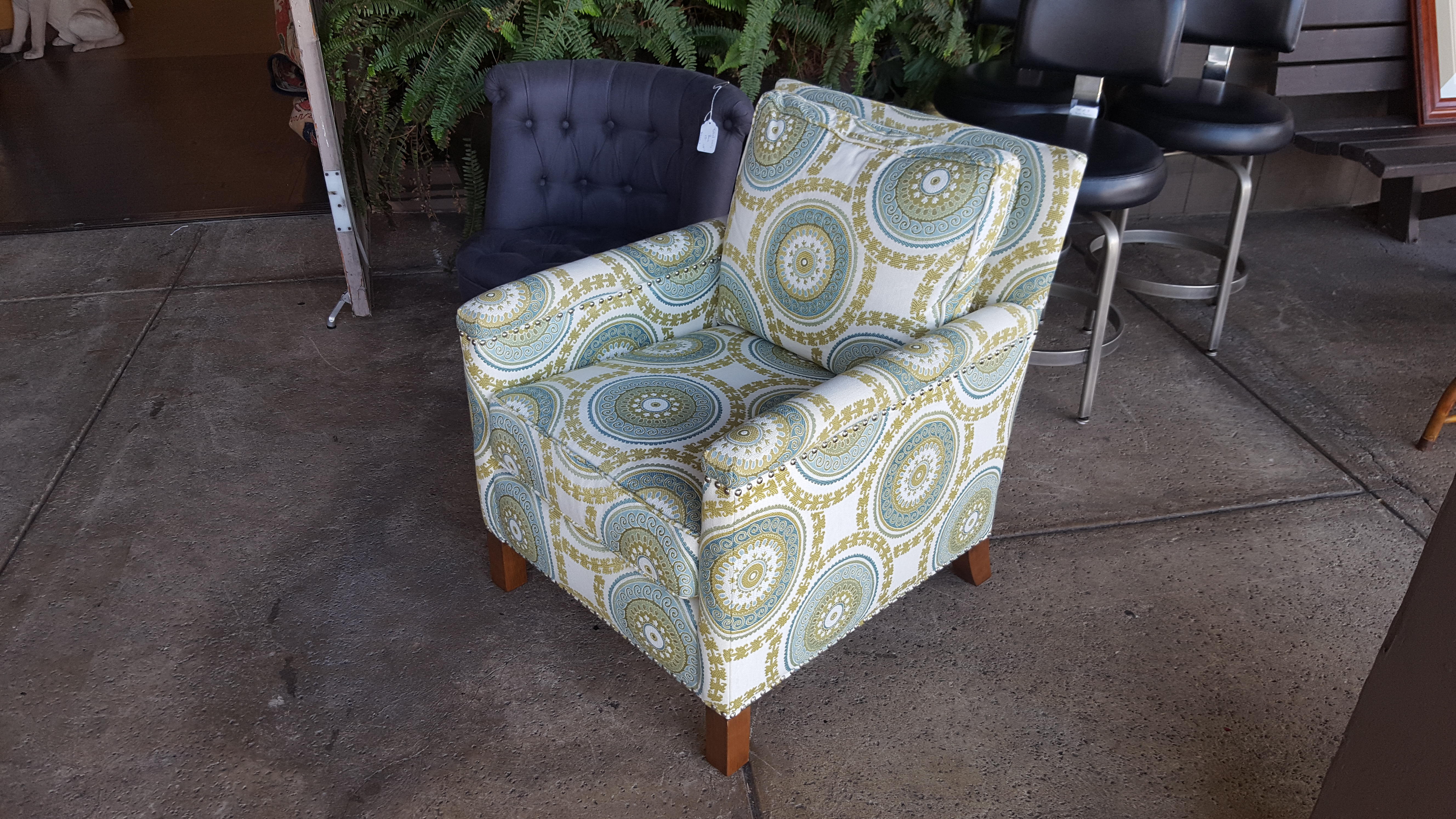 Stunning upholstered Blue, gold and Chairs, Benches, Stools Call for price