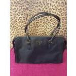 Prada~ Black, Nylon, Dbl Leather Handle w/Zip Top. For Sale