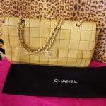 CHANEL~ Camel, Lambskin, Quilted, Double Stitched. For Sale