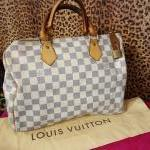 Louis Vuitton~ Damier Azur, Speedy. For Sale