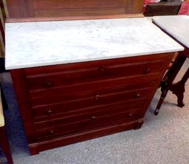 Antique dresser -Victorian with marble Furniture Price: $750.00