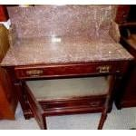 Washstand-Large marble top washstand, antique For Sale