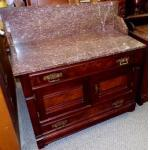 Marble top Washstand, antique For Sale