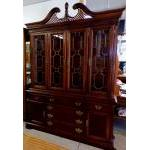 Hutch-China cabinet, solid cherry For Sale