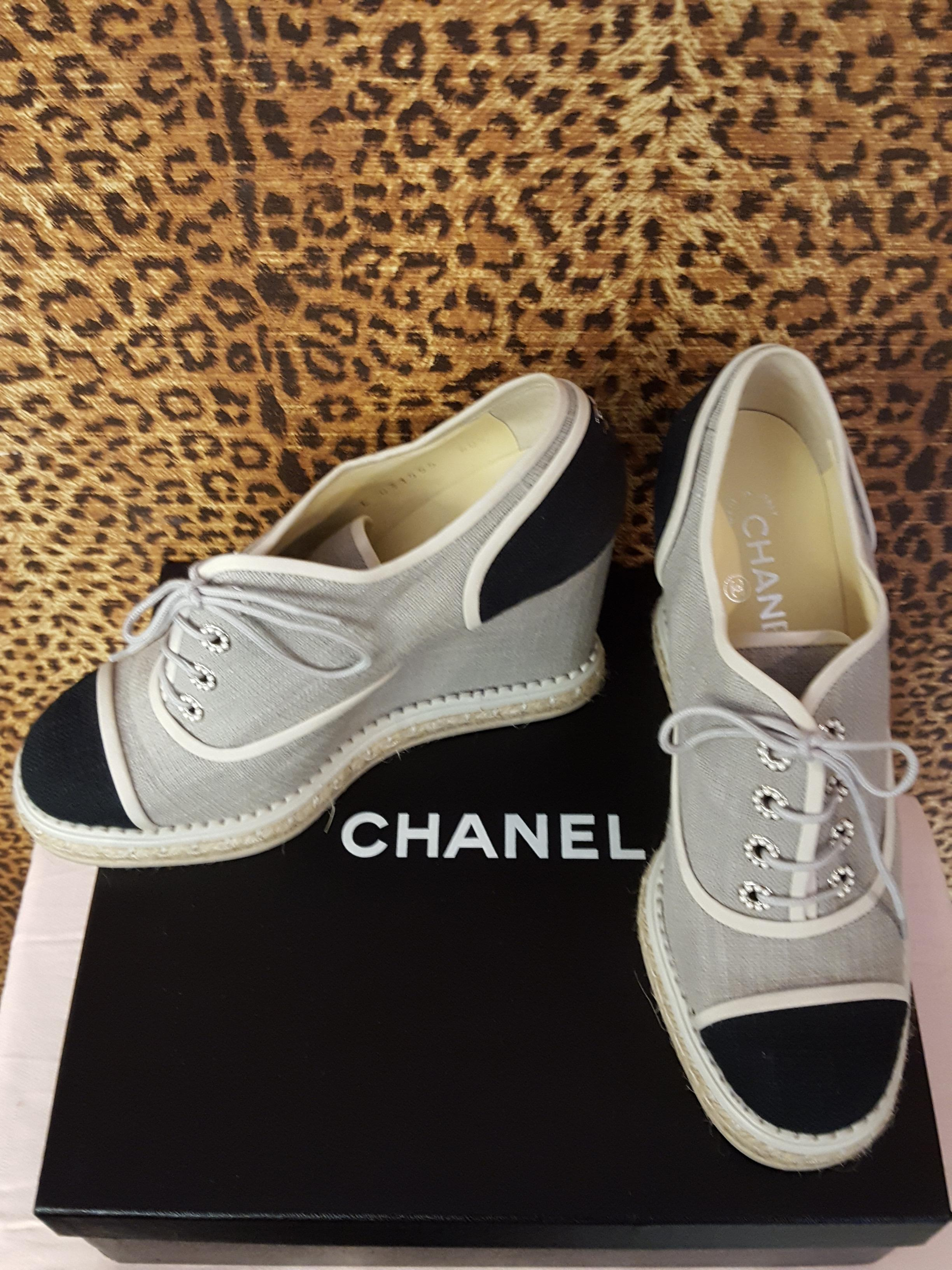 Chanel~ Black & White, Shoes Price: $741.06