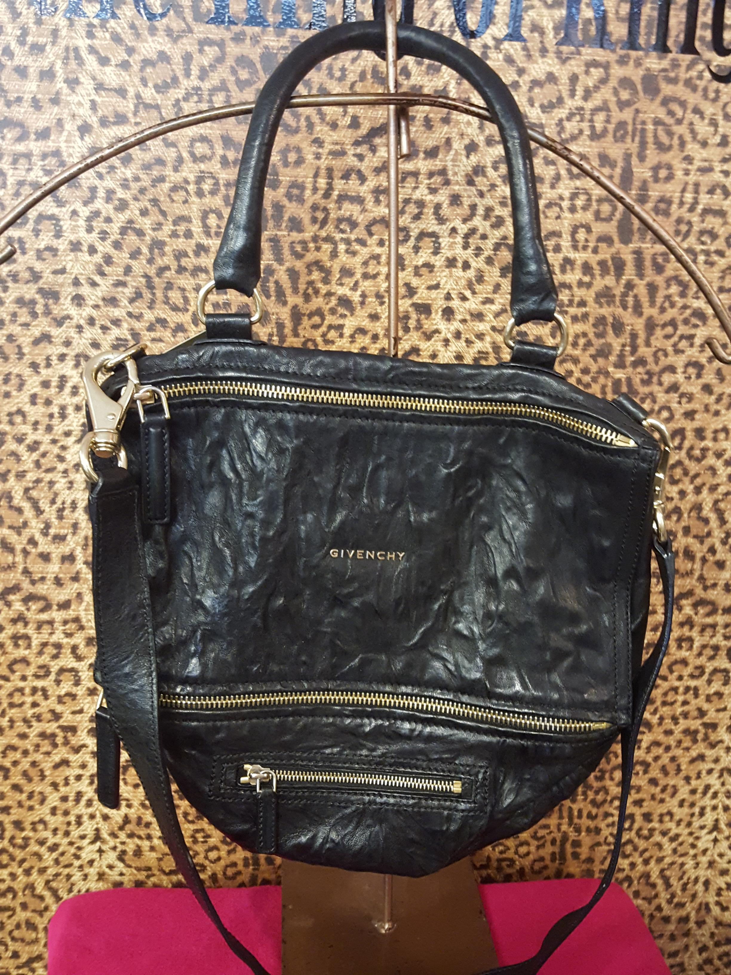 Givenchy~ Black, Distressed Leather, Purses, Handbags Price: $1054.71