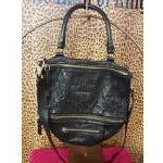 Givenchy~ Black, Distressed Leather, Crossbody. For Sale