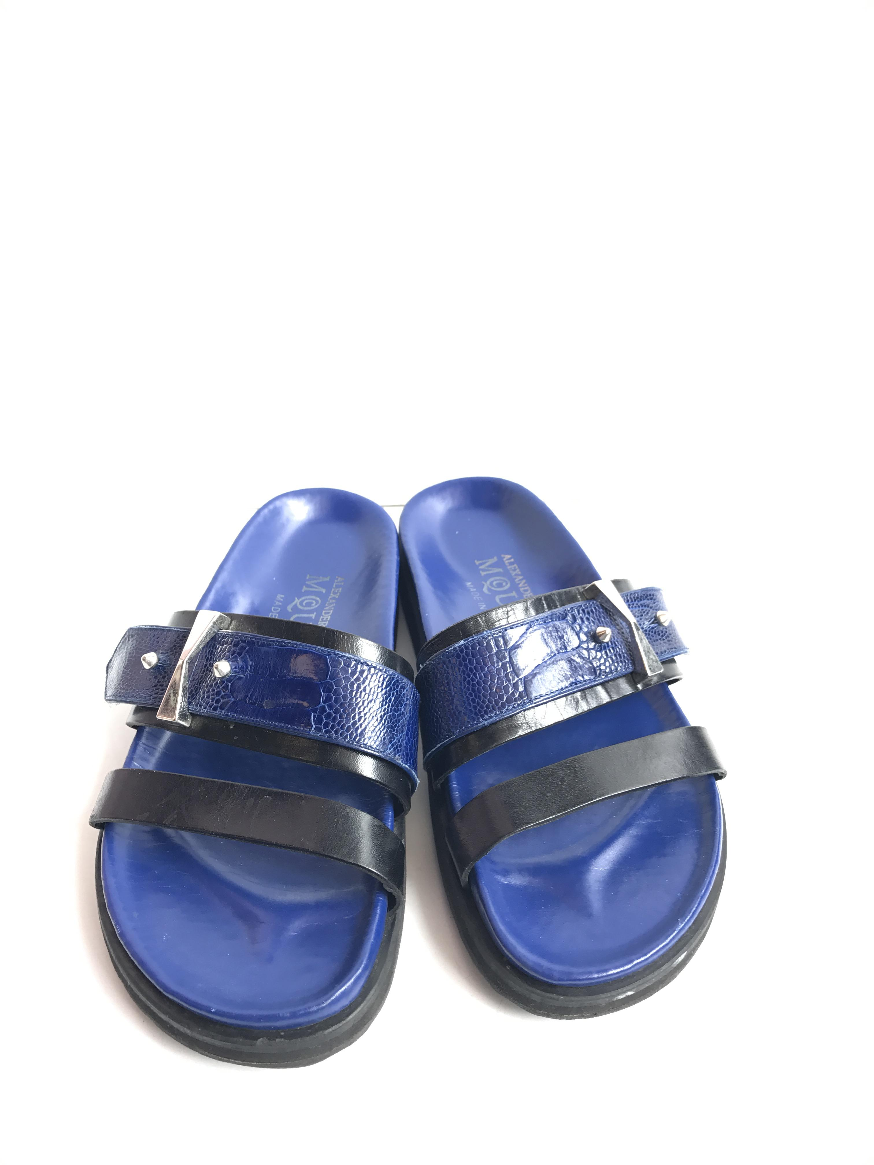 Alexander McQueen blue slip Shoes Price: $199.99