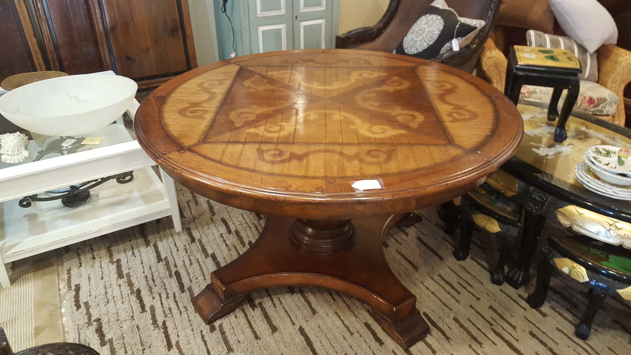 54 Round traditional inlayed dining Dining Price: $995.00