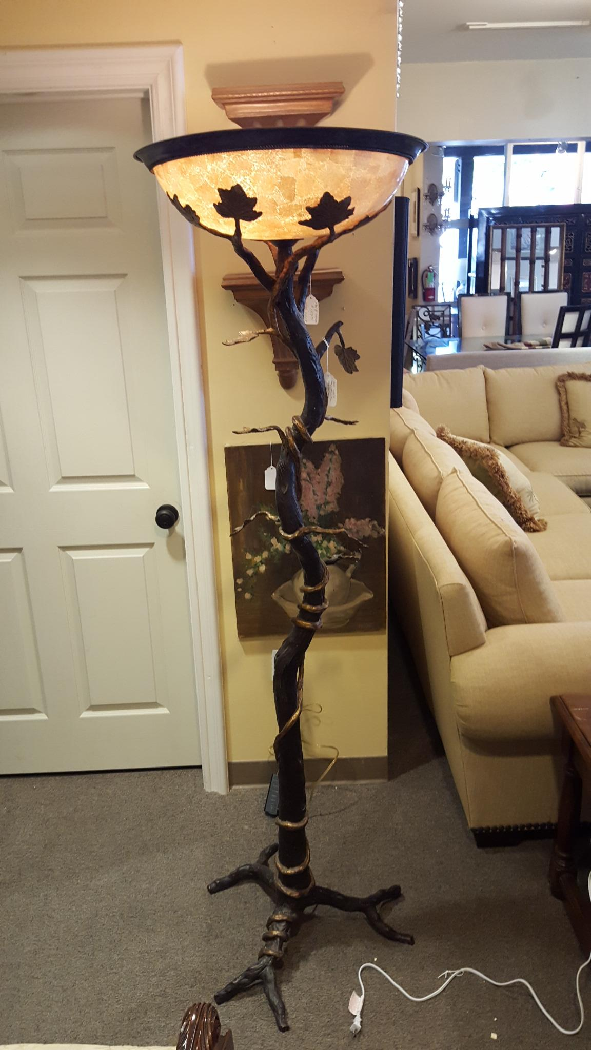 Bean Stalk torchiere floor lamp with Lighting, Lamps Price: $395.00