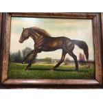 Horse Painting Brown or Light For Sale