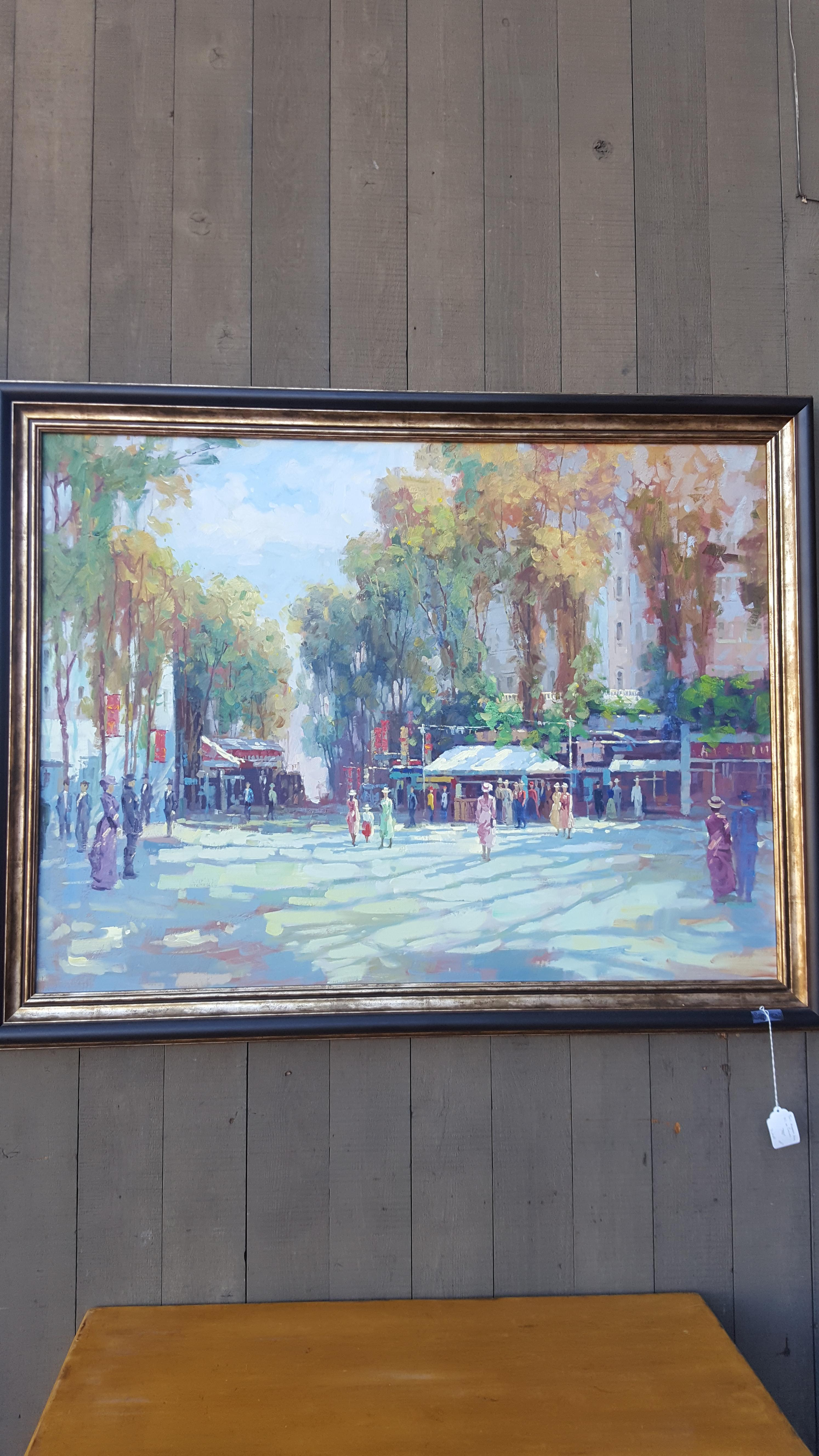Beautiful fall scene oil in canvas in Paintings Price: $750.00