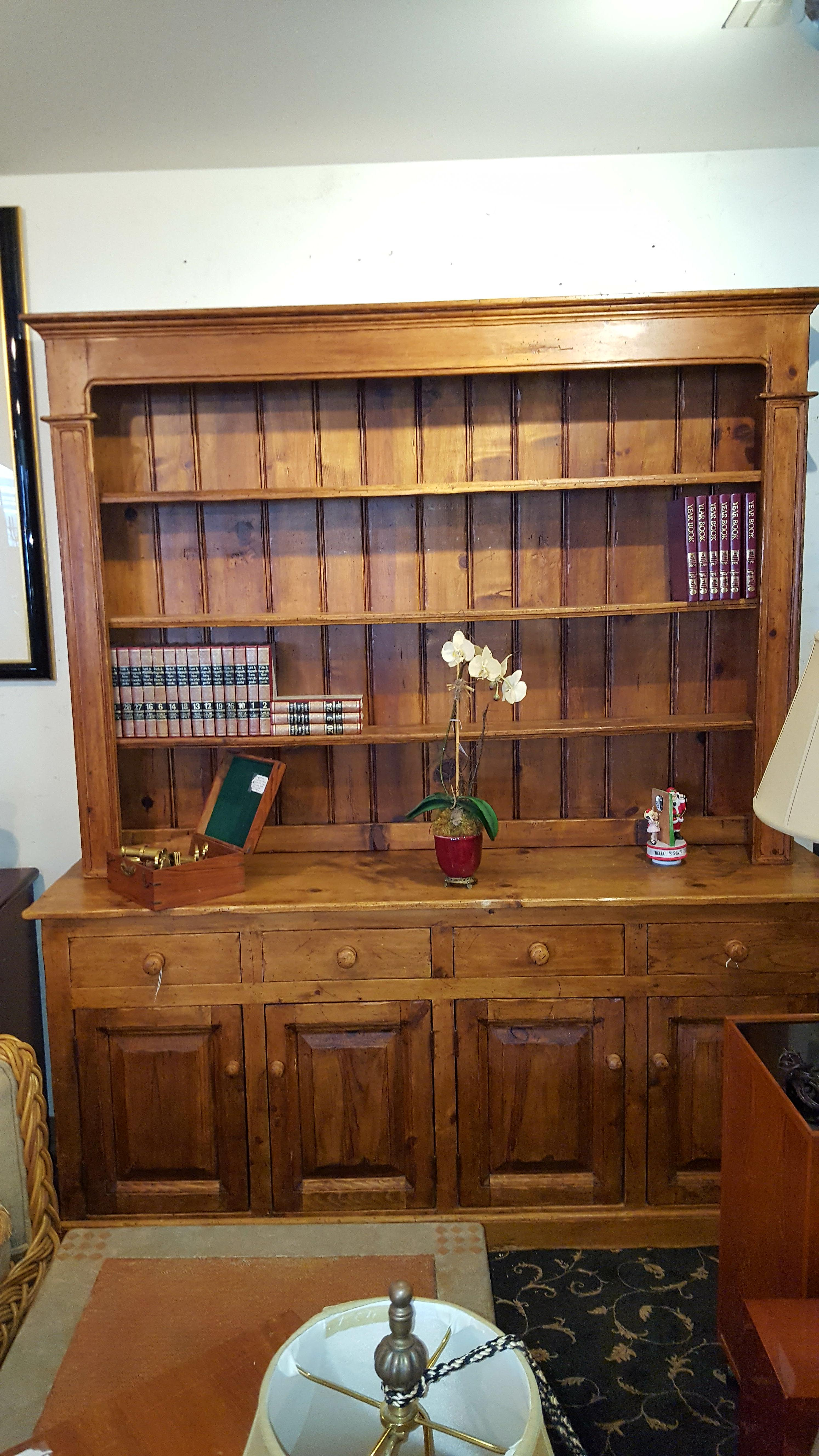 Beautiful 2pc Country French pine Cabinets, Hutches Price: $1500.00