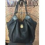 Louis Vuitton~  Black, Leather, Mahina Pinpoint, Double Handle. For Sale