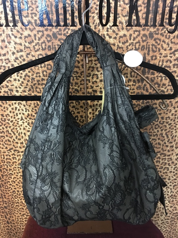 Valentino~ Black, Lace, Slouchy, Bow on Purses, Handbags Price: $424.00