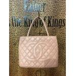 SOLD! Chanel~ Pink, Leather, Quilted , Pocket, Dbl Handle, Silvertone Hardware. For Sale