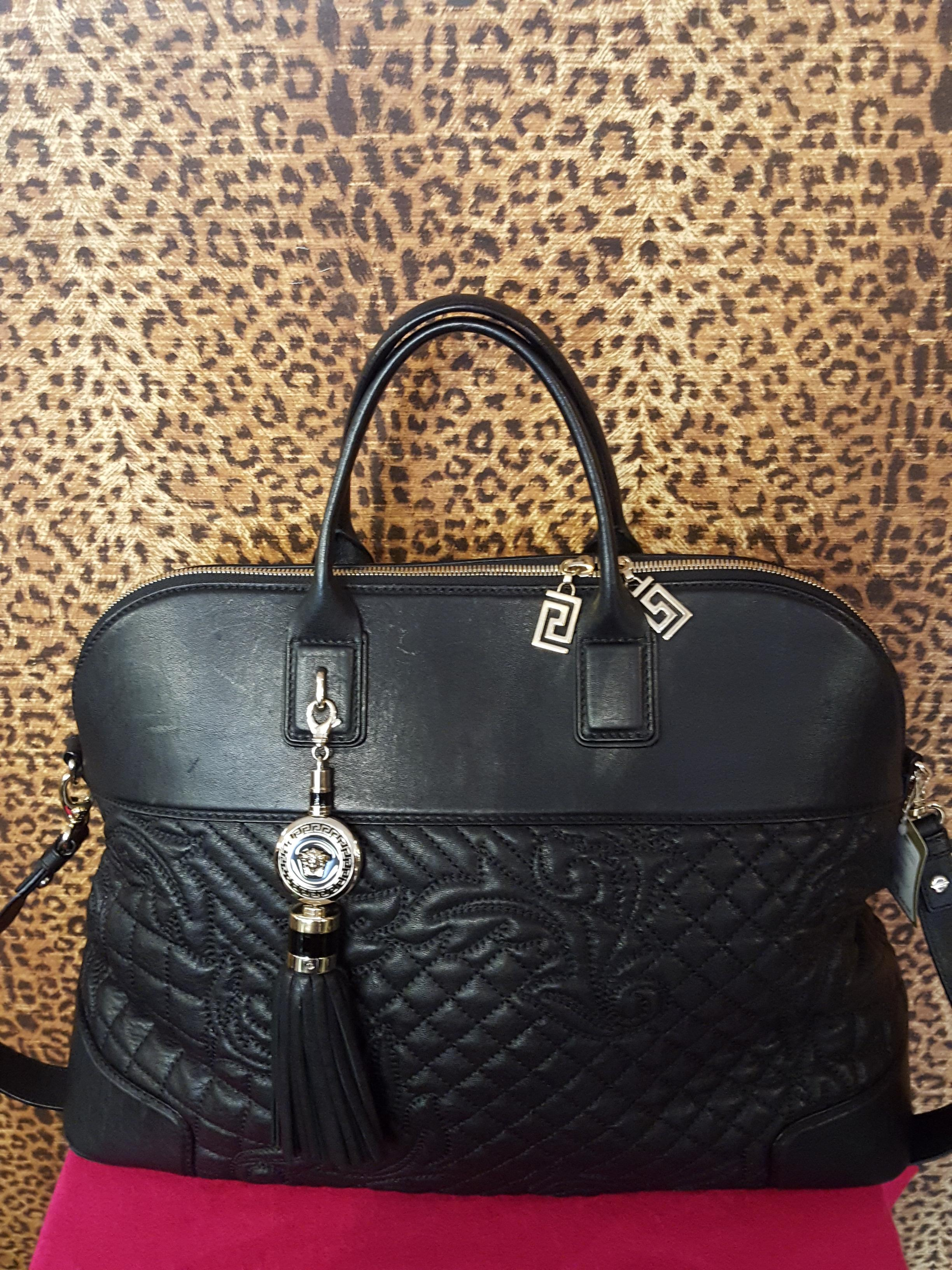 SOLD! Versace~  Black, Leather, Quilted Purses, Handbags Price: $2048.96