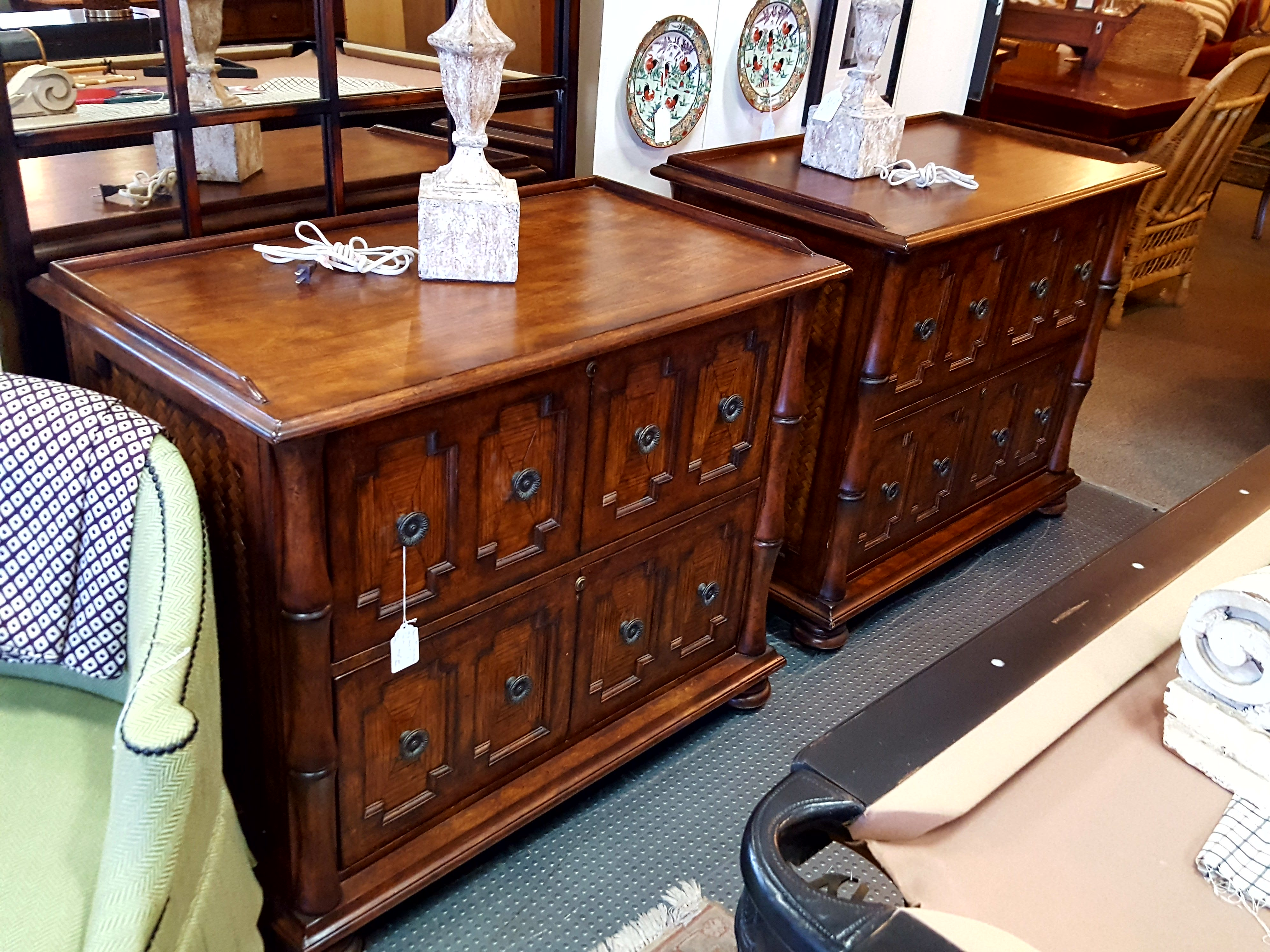 Beaitiful pair of Sligh furniture file Cabinets, Hutches Price: $1950.00