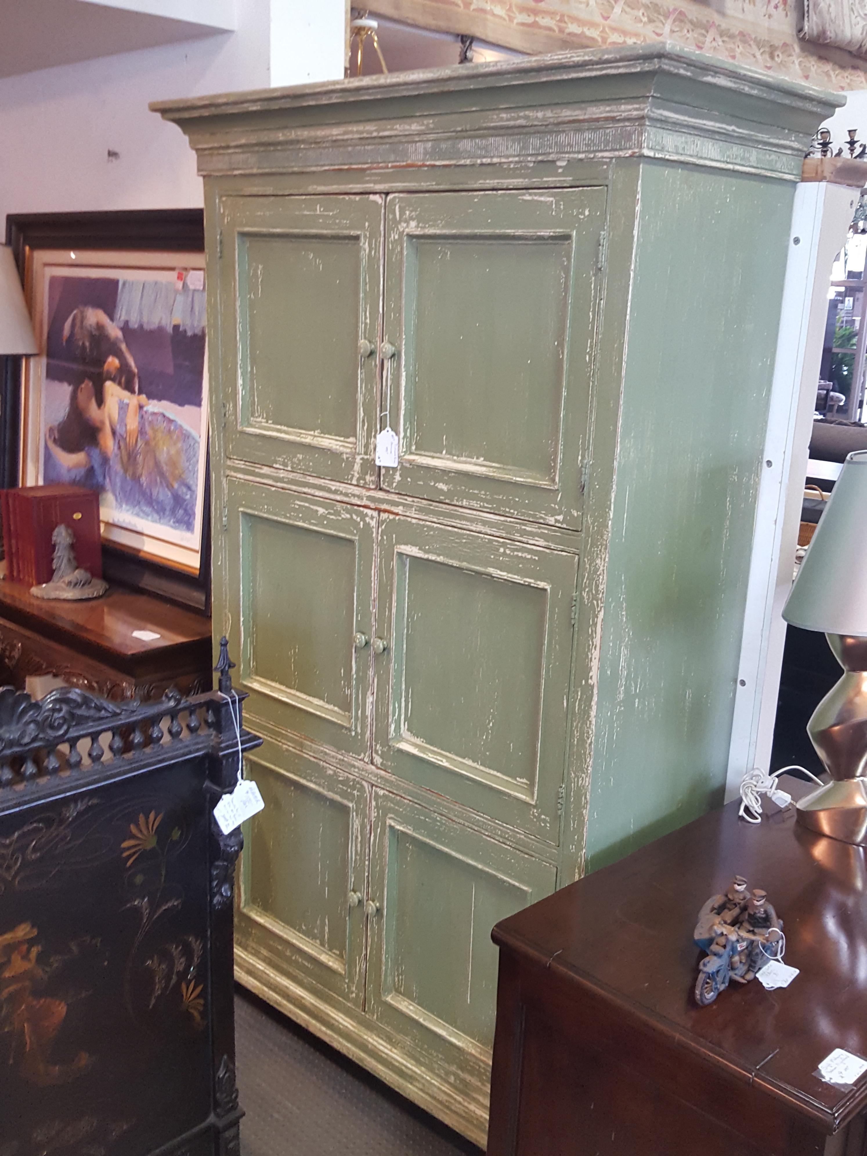 Beautiful painted green professionally Armoires, Entertainment Price: $495.00