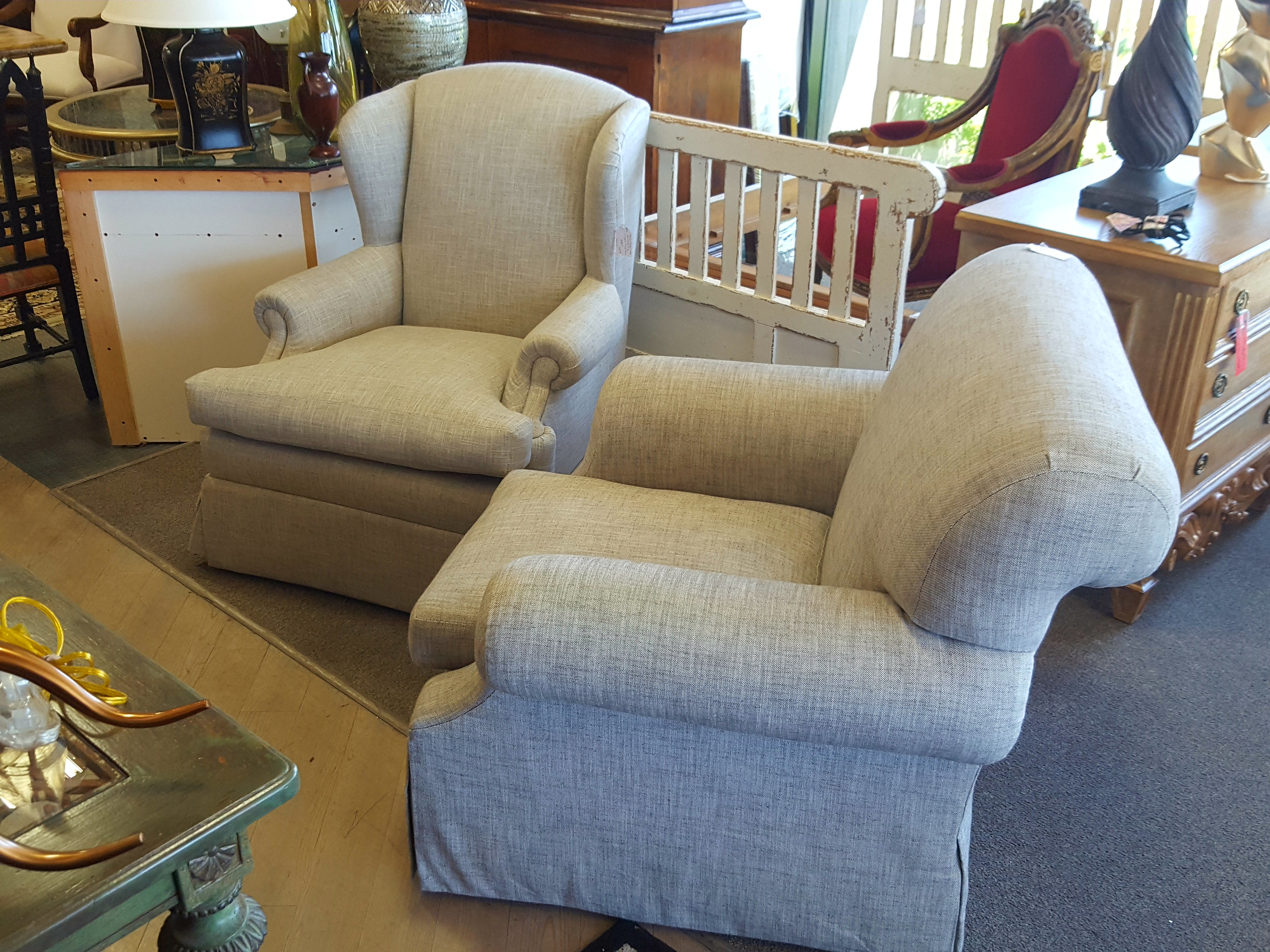 Beautiful pair if mismatched custom Chairs, Benches, Stools Price: $1100.00