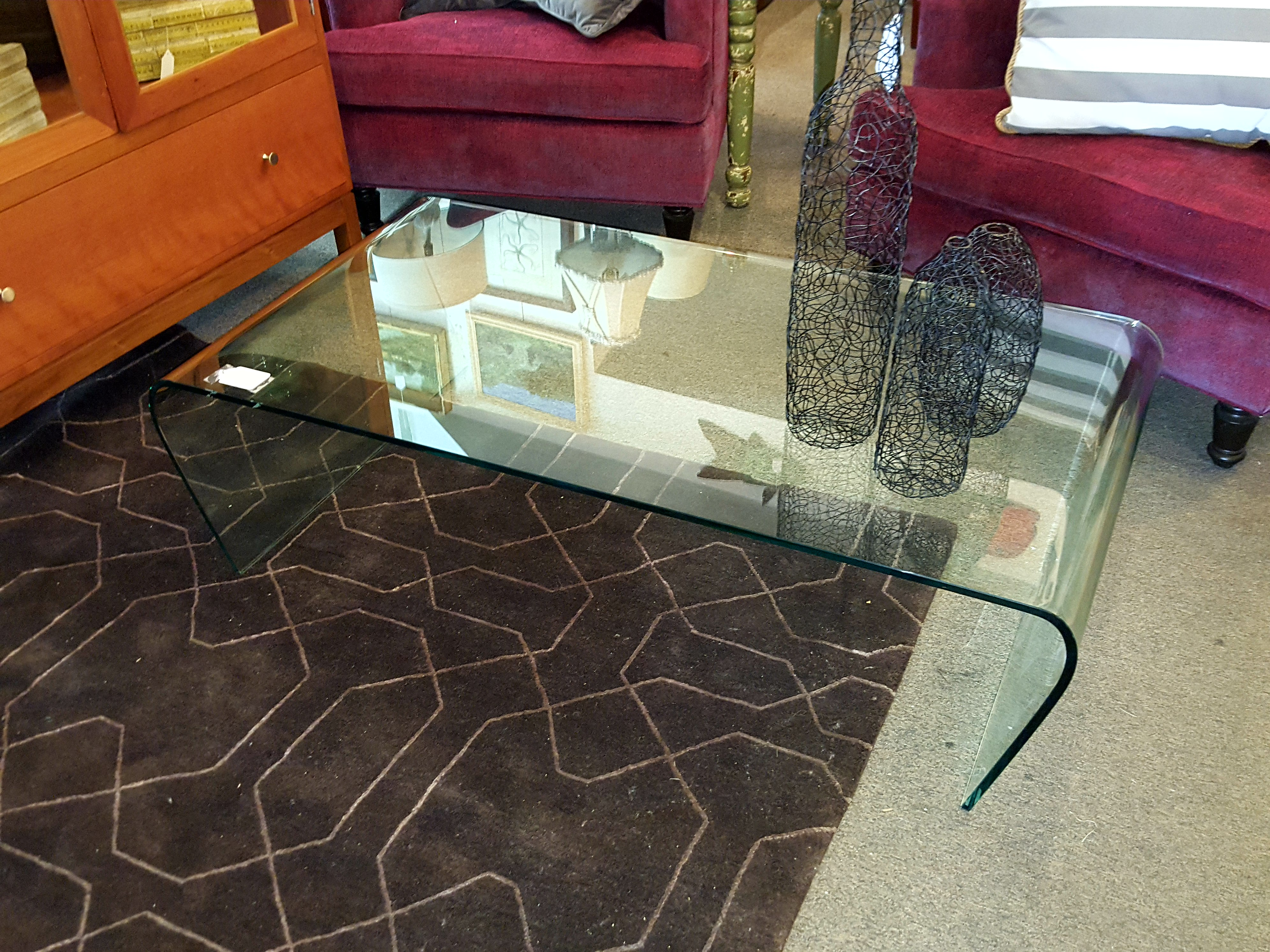 True 1960s Italian all glass cocktail Tables, Desks, Stands Price: $625.00