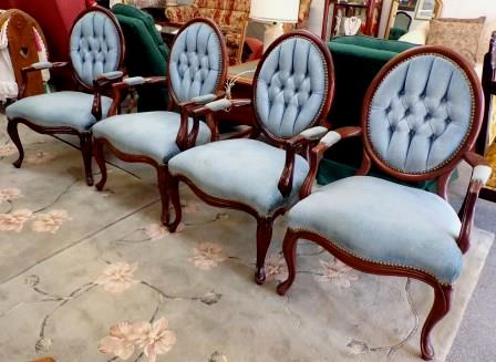Victorian Louis XV chairs-set of Furniture Call for price