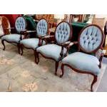 Victorian Louis XV chairs-set of 4 For Sale