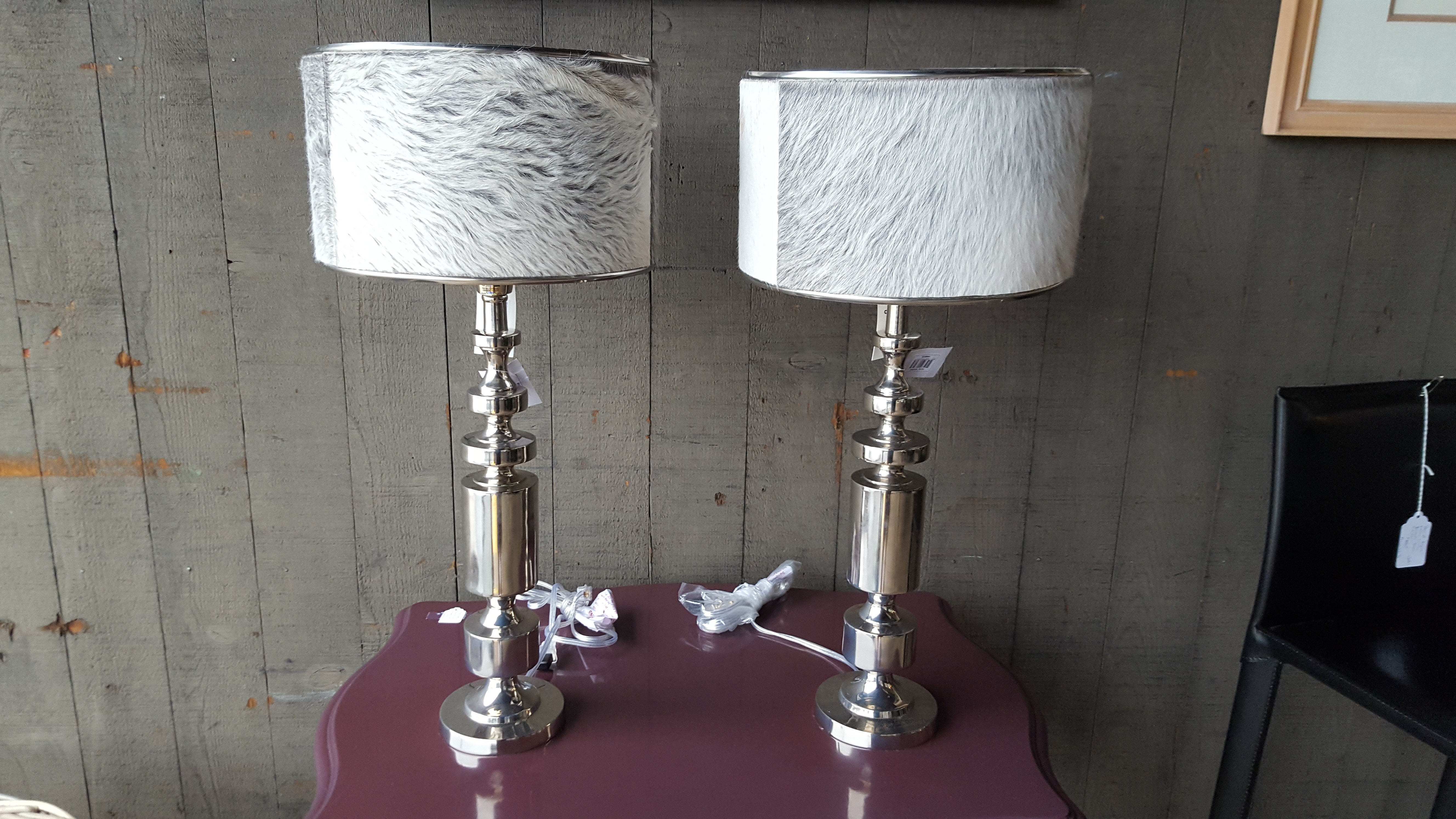 Brand new pair of nickel table lamps Lighting, Lamps Price: $350.00