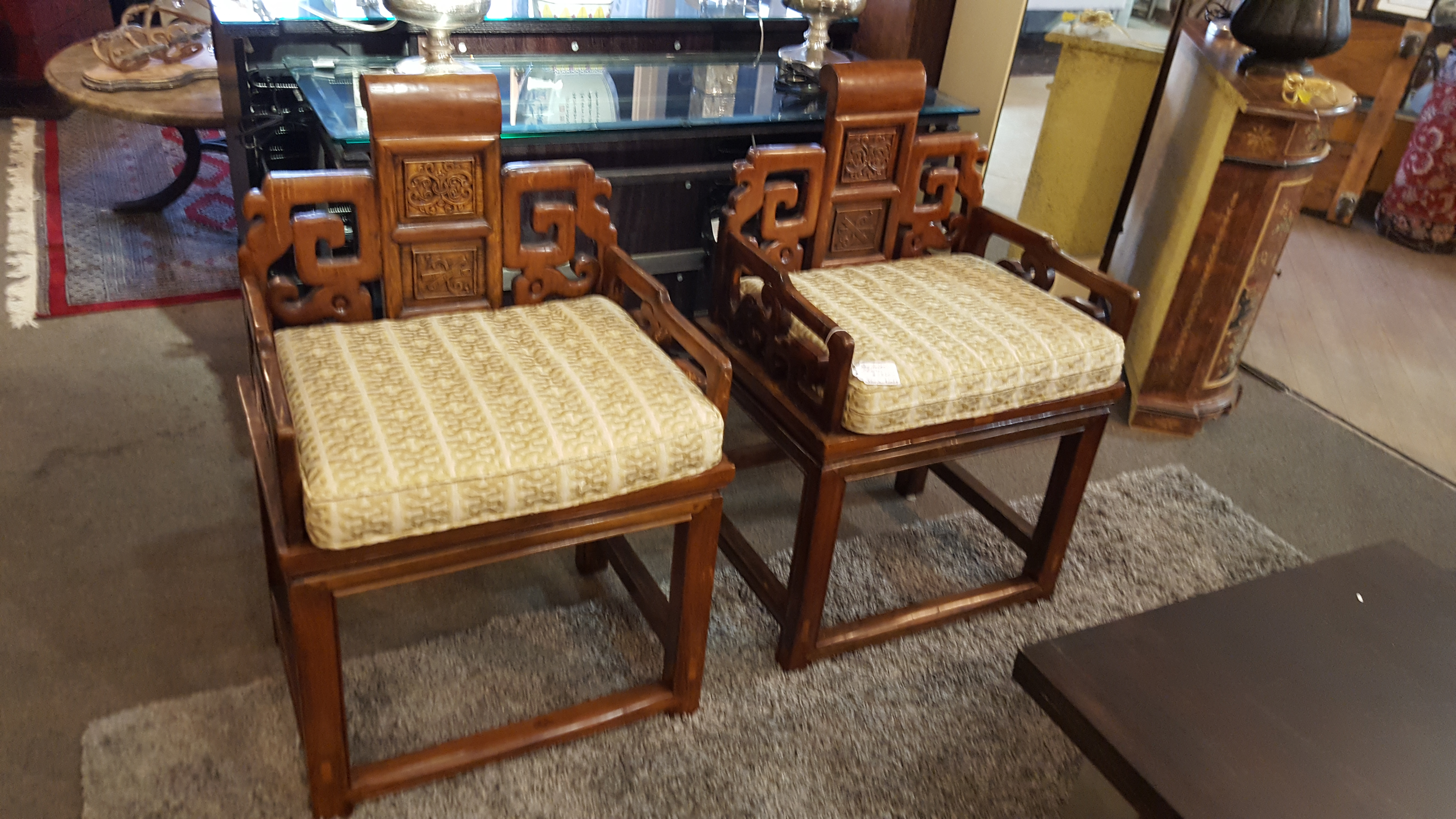 Beautiful pair of Antique Elm Chairs, Benches, Stools Price: $1060.00