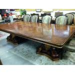 Maitland Smith Dining table 8 chrs For Sale