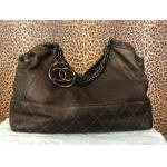 Chanel~  Brown Coco, Leather,  Top Magnetic Closure,  Rosegold Color