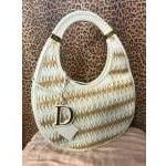 Christan Dior White Leather Hobo!!! For Sale
