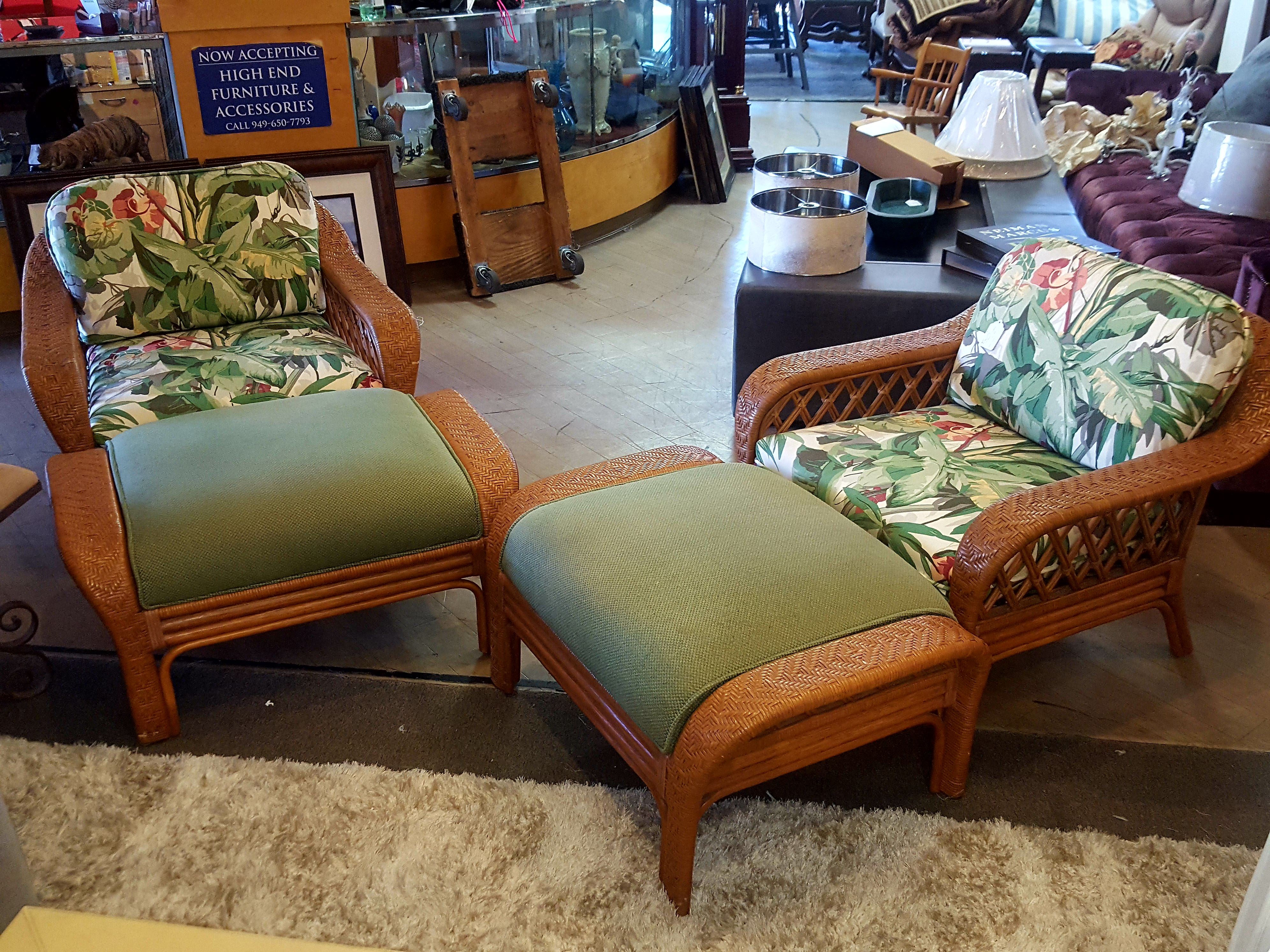 Beautiful pair of woven lounge chairs Chairs, Benches, Stools Price: $525.00